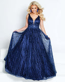 2Cute 91605 A-Neckline Long Prom Dress