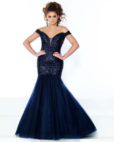 2Cute 91606 A-Neckline off-Shoulder Long Mermaid Dress