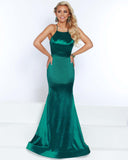 2Cute 91619 Long Floral Satin Prom Dress