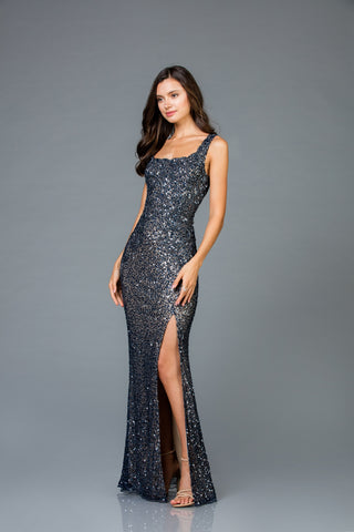 Scala 48961 High Slit Long Dress