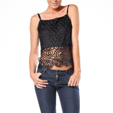 C3104 Crochet Cropped Camisole