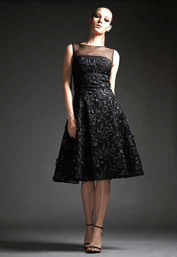 Park108 M124 3d Floral Tulle Cocktail Dress
