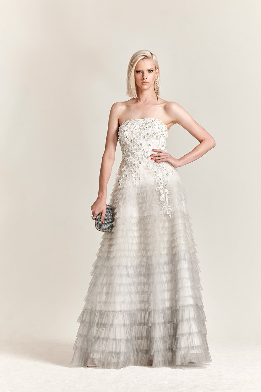 Park108 M 300 Beaded Strapless Gown