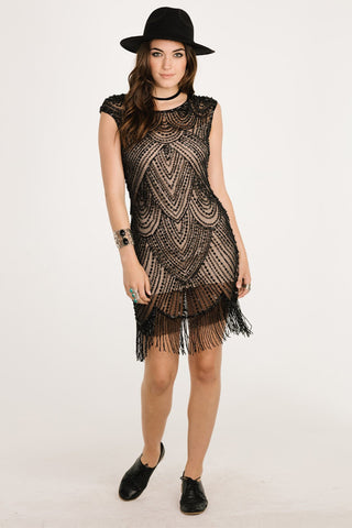All Or Nothing Fringe Dress