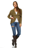 Women's Textured Open Front Cardigan