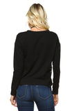 Women's Sweater with Side Embroidery Detail