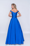 Nina Canacci 1418 Off-The-Shoulder Long Ball Gown