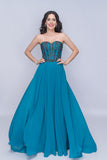 Nina Canacci 3140 Stylish Strapless Long Gown