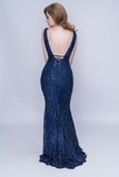 Nina Canacci 2236 Deep Neckline Cut-Out Long Dress