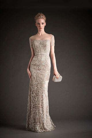 Park108 M106 Embroidered Tulle Gown