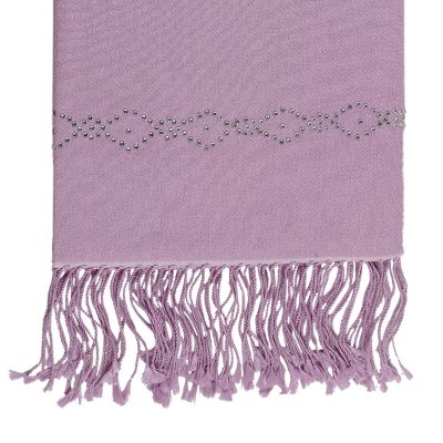 Cashmere Wrap with Swarovski Beadwork in a Diamond Border