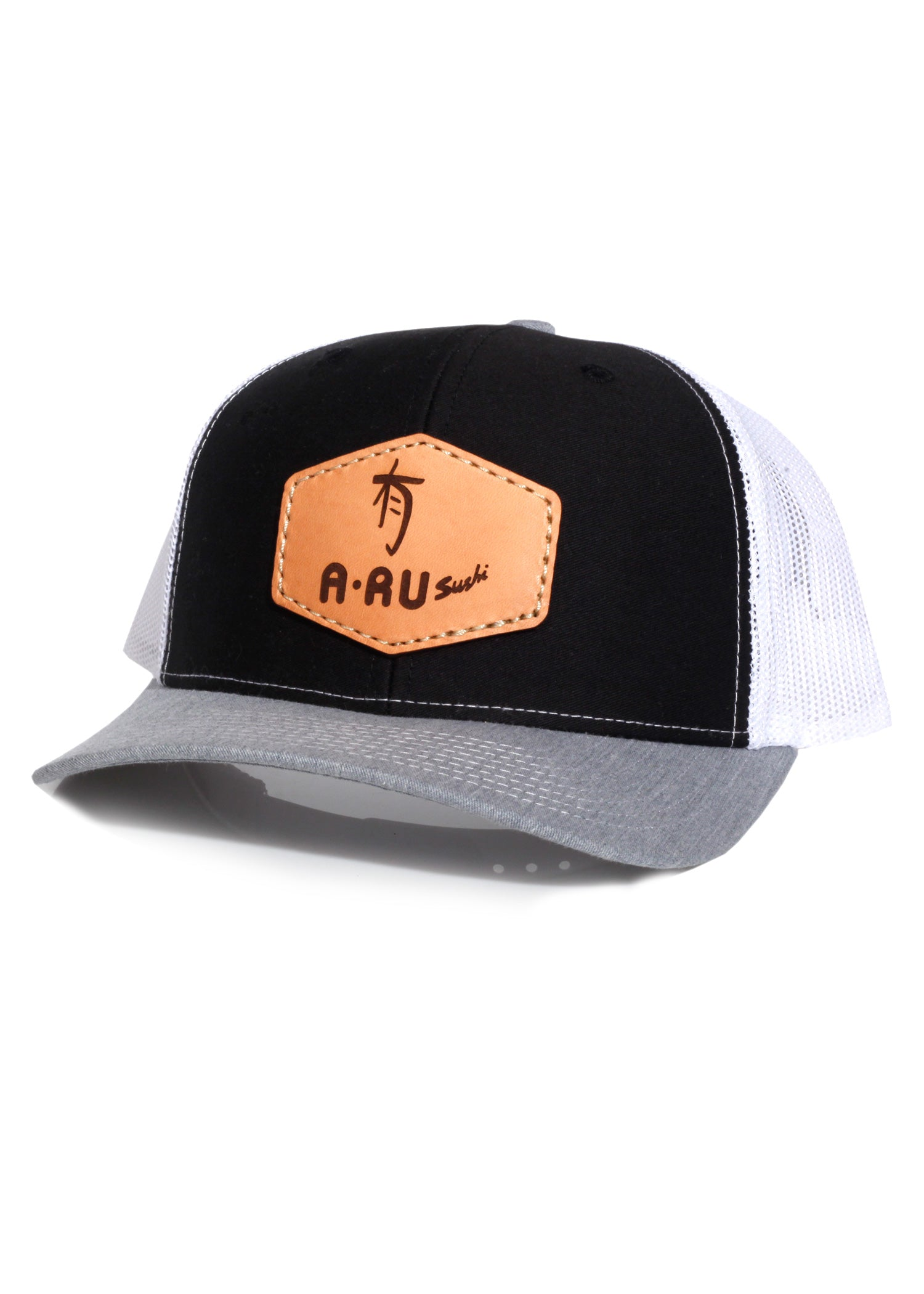 A-Ru Sushi - Richardson 112 Black/White/Heather Grey