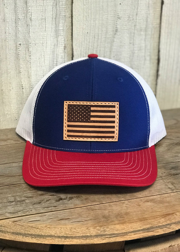 American Flag 4th of July Snap back