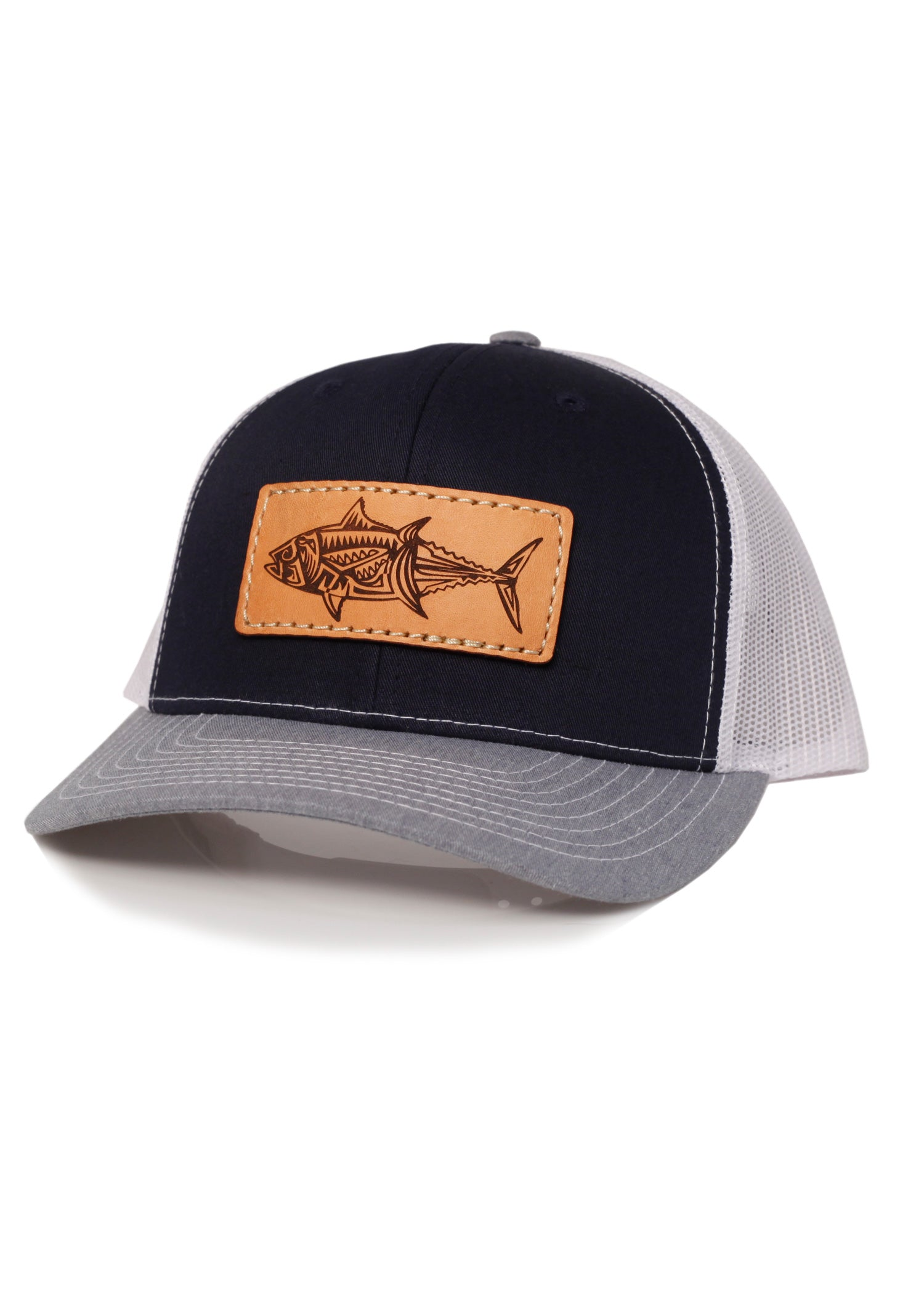 No Name Hat Co. - Richardson 112 Navy/White/Heather Grey