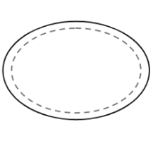 image of an oval