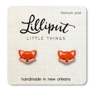 Red Fox Stud Earrings