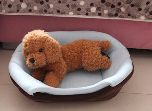 Fordable Soft Warm Dog House Bed