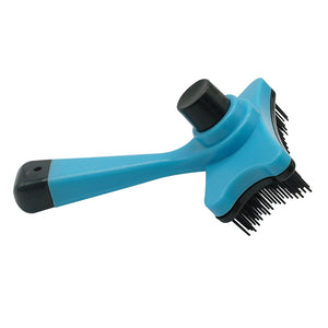 Blue Self Clean Dog Brush For Grooming Shedding Pets