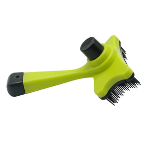 Green Self Clean Dog Brush For Grooming Shedding Pets