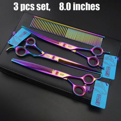 Rainbow Professional Pet/Dog Grooming Scissors set