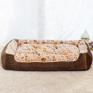 Warm Soft Padded Dog Bed