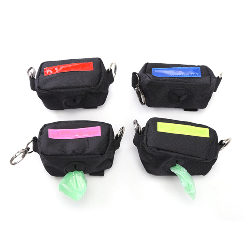 Portable Pet Waste Dog Poop Bag Holder With Hook Pouch