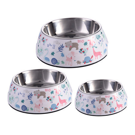 Stainless Steel Multiple Pattern Dog Bowl