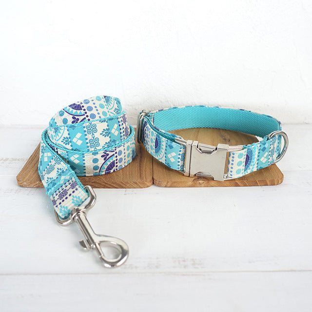 Vintage Tribal Pattern Soft Nylon Dog Collar