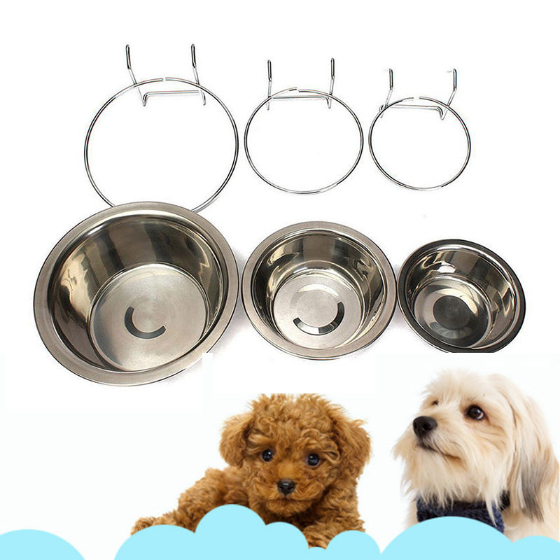Stainless Steel Hanging Dog Bowl