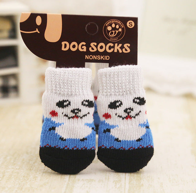 Warm Soft Puppy Dog Knit Socks