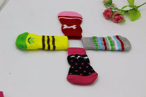 Anti skid Indoor Soft Dog Socks