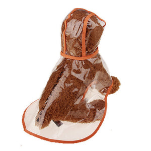 Waterproof Dog Raincoat Transparent Clothing