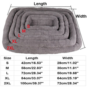 Grey Warm Soft Dog Bed