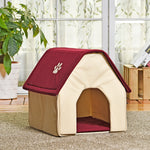 Dog House Kennel Bed