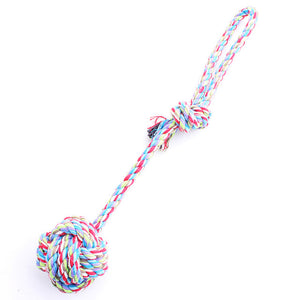 Multi colour Cotton Rope  Bite Dog Toy