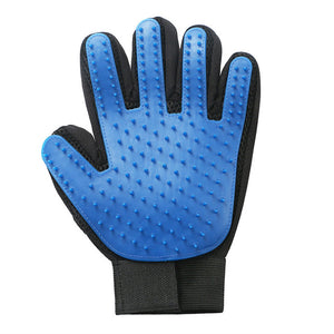 Blue Silicone Pet Grooming Cleaning Glove For Loose Dog Hair