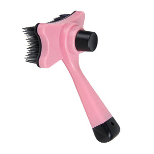Pink Multi-purpose Pet/Dog Grooming Shedding Brush Hair