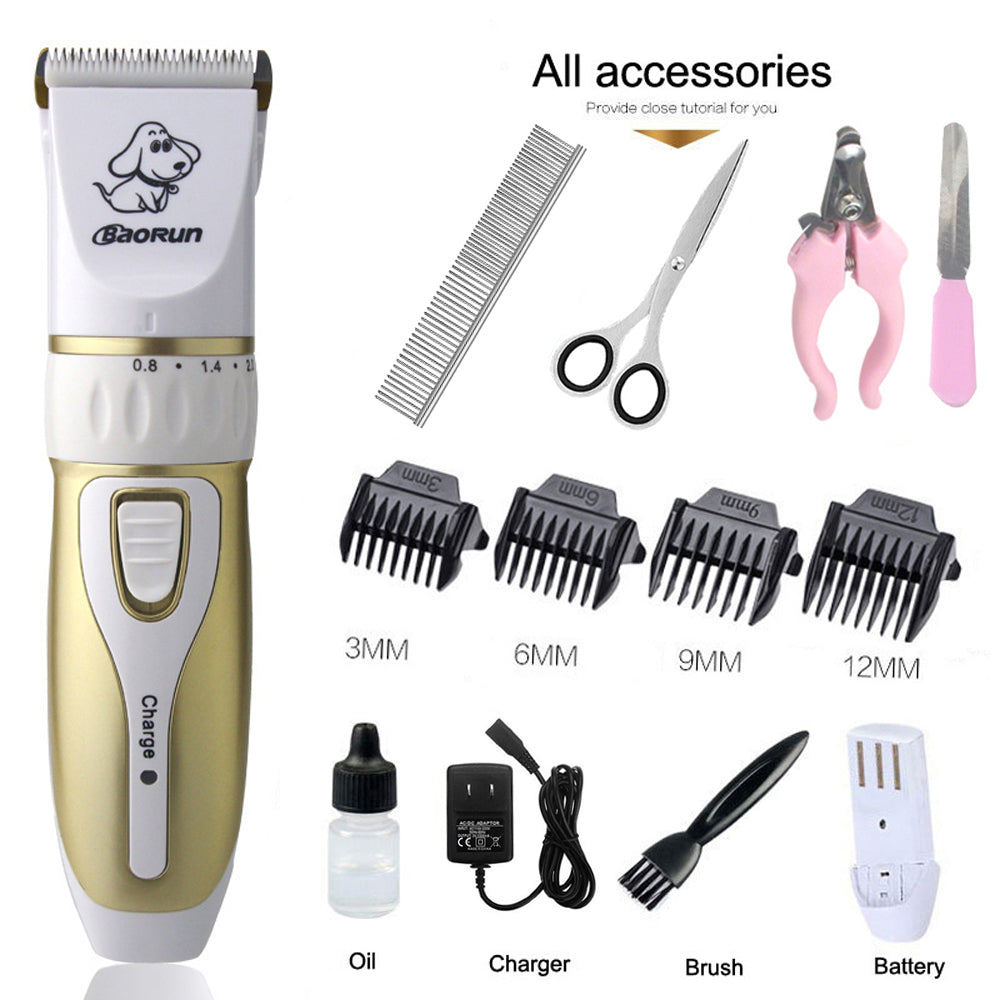 Rechargeable Low-noise Cat/Dog Electrical Hair Trimmer