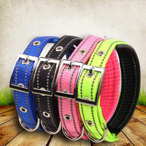 Nylon Night Reflective Adjustable Dog Collar