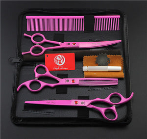 Violet Professional Pet/Dog Grooming Scissors With Comb