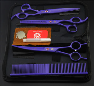 Purple Professional Pet/Dog Grooming Scissors With Comb