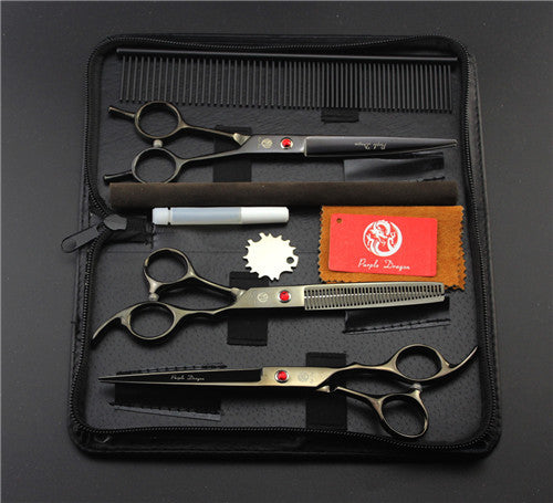 Black Professional Pet/Dog Grooming Scissors With Comb