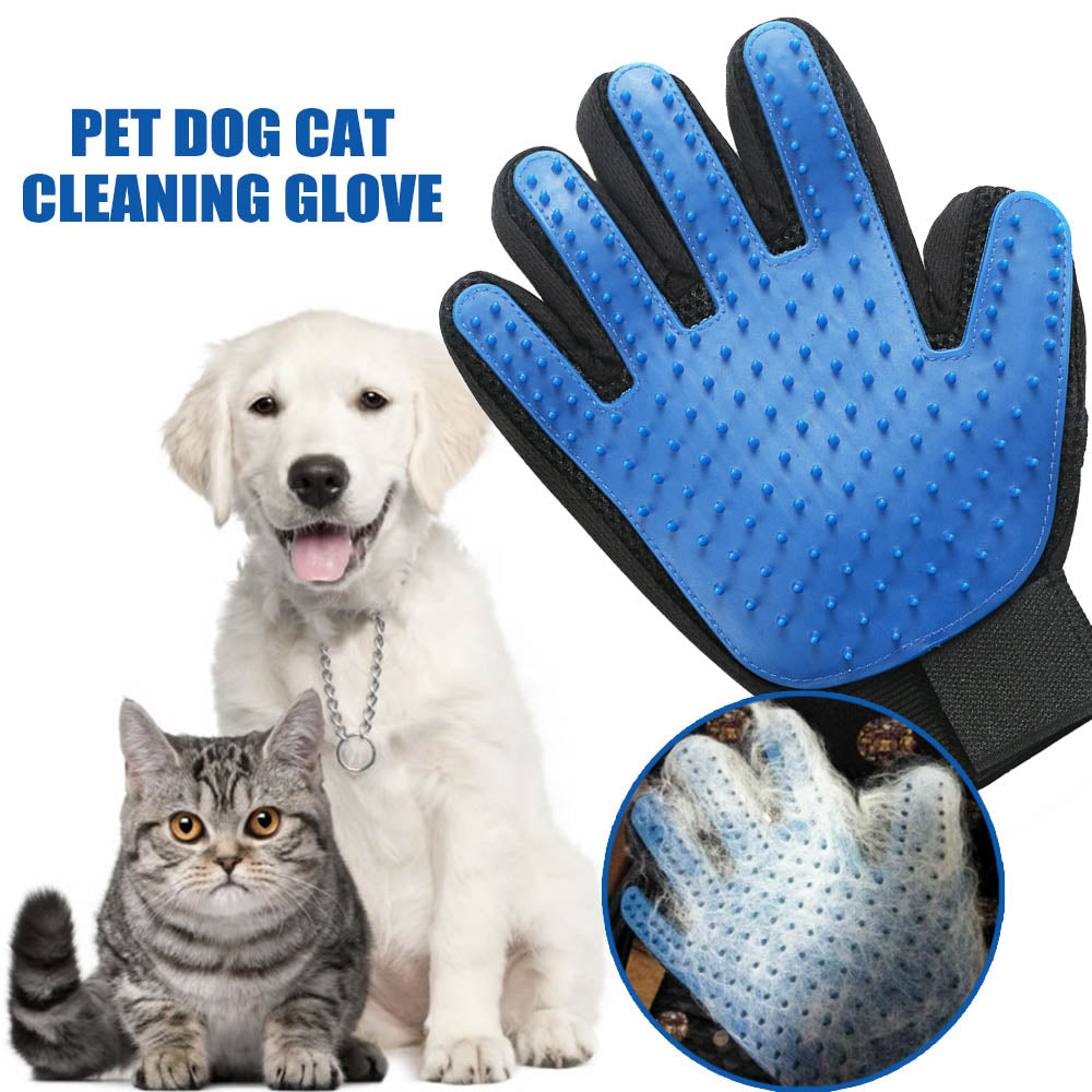 Silicone Pet Grooming Cleaning Glove For Loose Dog Hair