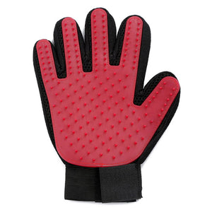 Red Silicone Pet Grooming Cleaning Glove For Loose Dog Hair