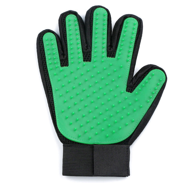Green Silicone Pet Grooming Cleaning Glove For Loose Dog Hair