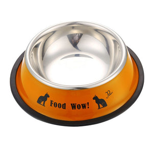 Stainless Steel Anti-skid Food Or Water Dog Bowl