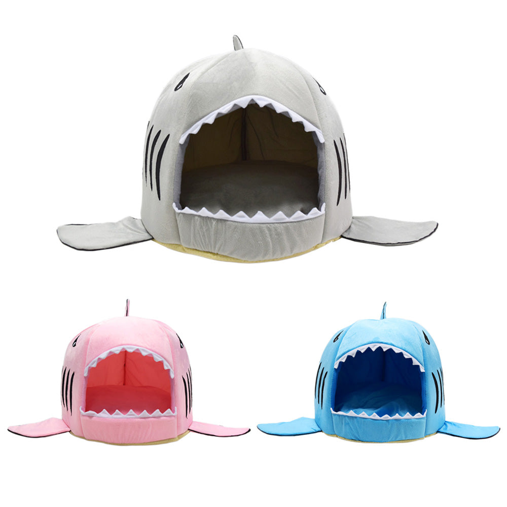 Soft Shark Dog House Bed