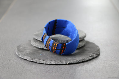 Bracelet bleu et orange