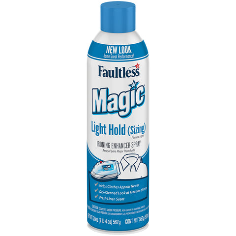 Faultless Magic Light Hold (Sizing) Ironing Enhancer Spray Twelve 20 oz Cans