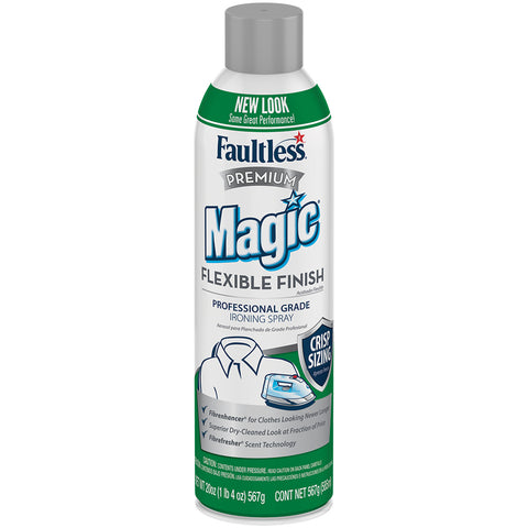Faultless Premium Magic Flexible Finish Ironing Spray Twelve 20 oz Cans